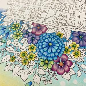 夜の街と朝の花②(ワンダーズ・おとぎの国のぬりえブック)