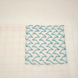 一目刺しの刺し子のふきんの表紙のふきんを作りたい。ホークス。