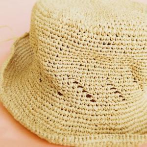 オトナ女子のデイリークロッシェに載っていた帽子、編みました!
