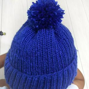 どノーマルが可愛いニット帽編めた。