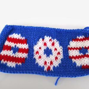 夏っぽい編み地を、編んでみました。