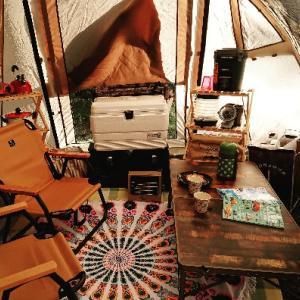 キャンプ中です☆
