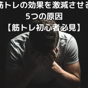 筋トレの効果を激減させる5つの原因【筋トレ初心者必見】