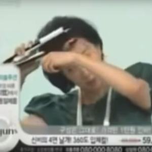 韓国テレビショッピング、やっちゃった!おもしろネタ2:ヘアアイロン