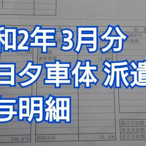 【トヨタ車体】給与明細【2020年3月】