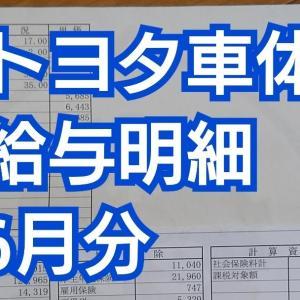 【トヨタ車体】給与明細【2020年6月】