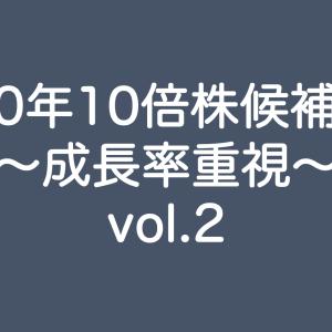 2020年10倍株候補銘柄スクリーニング〜成長率重視〜 vol.2