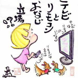 テレビとリモコン。。。おなじ立場!?☆