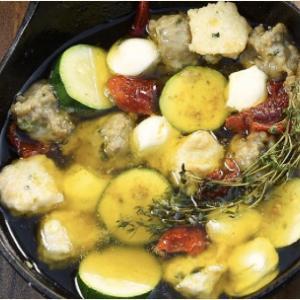 【男子ごはん】「モッツァレラチーズとドライトマトのアヒージョ」のレシピ| #622 おうちで楽しめる豪快!BBQカレー!