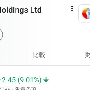 5000株保有中のChinaGasが一日で9%大暴落