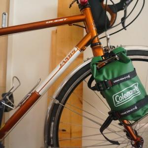 BE-PAL9月号付録 Coleman防滴ミニバックを自転車につけてみた