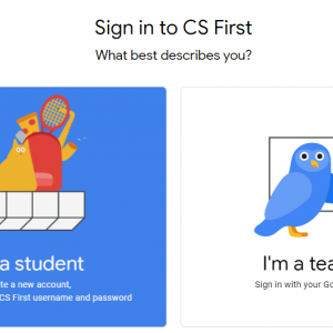 CS First(シーエスファースト)の先生用アカウントと生徒用アカウントの作成方法