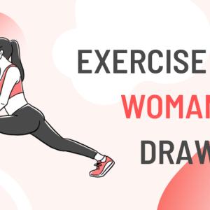 「エクササイズ系の記事にピッタリ」無料で使える女性イラスト