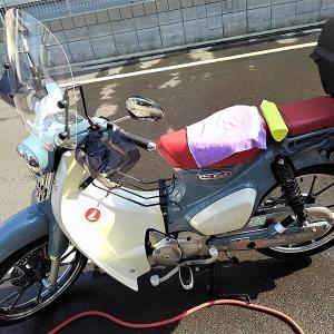 スーパーカブC125洗車とオイル交換 6049km