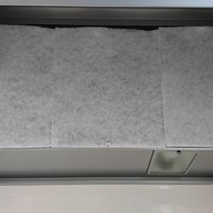 レンジフードの掃除と厚手フィルター