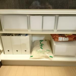 缶詰、米など 重量級ストック食品の収納方法