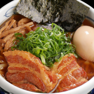 Menya Musashi is famous for double soup of Animal and Seafood.