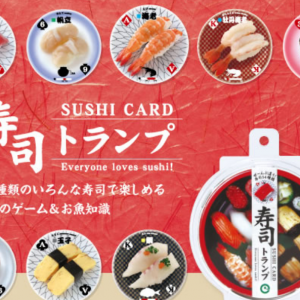 Round Sushi Playing Cards makes you excited