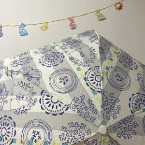 うさぎ柄のお気に入りの傘