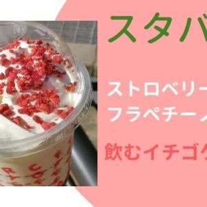 【スタバ】クリスマス2019ストロベリーケーキフラペチーノは飲むイチゴケーキ?味の感想!
