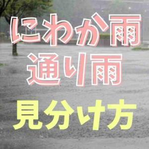 にわか雨と通り雨の違いは?見分け方のポイントも