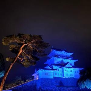 小田原城が6月1日〜6月3日までブルーライトアップ!