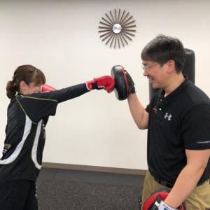 個別トレーニング新メニュー「ケアボクシング」