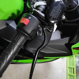 Ninja400 ブレーキ、クラッチレバーを交換しました