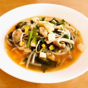 ピリ辛で体が温まる♡海鮮キムチスープ