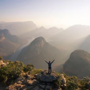 """【南アフリカ】""""神の窓""""から眺める世界三大峡谷『ブライデ・リバー・キャニオン』とまさかのパンケーキ☺"""