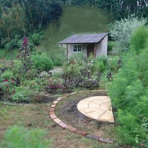 新しいサークル花壇