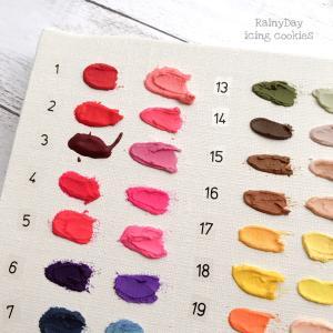 ▫️色選びの参考に♡食用カラージェルの色見本作ってみました▫️