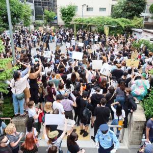 【番外編】職質の警察官にケガをさせられたクルド人らが、再び渋谷警察署に500人で抗議デモ