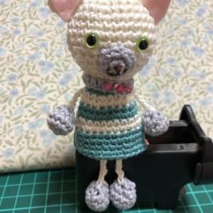 フェリシモ 〜かぎ針編み「はじめてさんのきほんのき」の会 〜4回目。→一体目完成