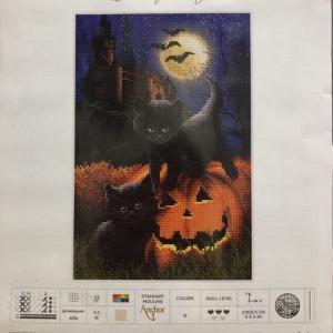 クロスステッチキット/黒猫ハロウィン