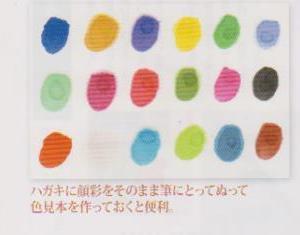 絵手紙の書き方・顔彩の色の出し方