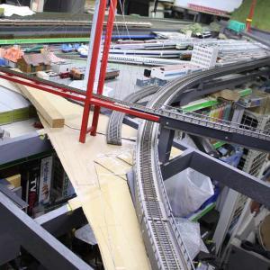 7番線(ローカル線)の製作(4) 【4番線橋梁下の路盤製作編】