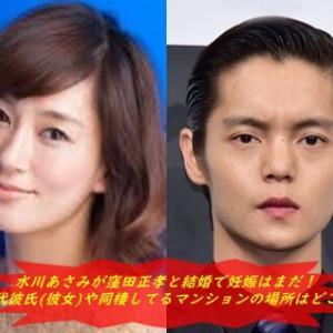 水川あさみが窪田正孝と結婚で妊娠はまだ!歴代彼氏(彼女)や同棲してるマンションの場所はどこ?