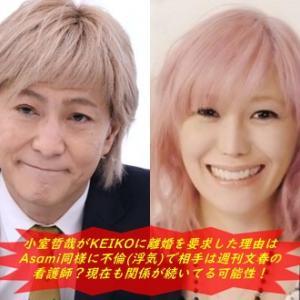 小室哲哉がKEIKOに離婚を要求した理由はAsami同様に不倫(浮気)で相手は週刊文春の看護師?現在も関係が続いてる可能性!