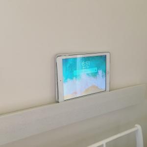 無印良品の壁に付けられる家具がiPad置場にちょうどよかった