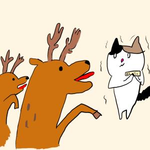 奈良の鹿が凶暴化してた!