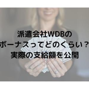 派遣会社WDBのボーナスってどのくらい?実際の支給額を公開