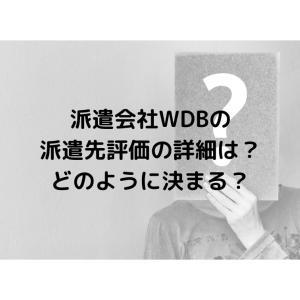 派遣会社WDBの派遣先評価の詳細は?どのように決まる?