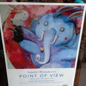 チェンマイシティアート&カルチュラルセンターで『スパチェットさん個展開く』