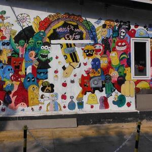 続・チェンマイの路上にある『面白い壁絵』(1)