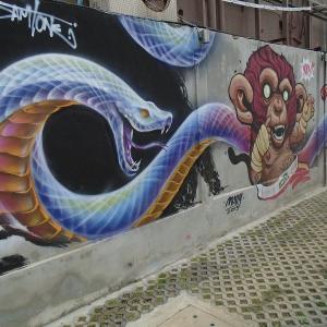 続・チェンマイの路上にある『面白い壁絵』(3)
