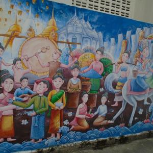 続・チェンマイの路上にある『面白い壁絵』(5)