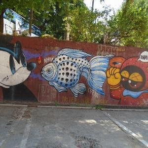 続・チェンマイの路上にある『面白い壁絵』(6)