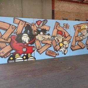 チェンマイの『路上にある面白い壁絵』JJマーケット編(2)