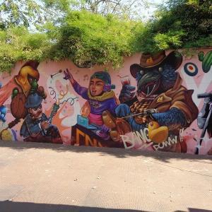 チェンマイの『路上にある面白い壁絵』JJマーケット編(3)